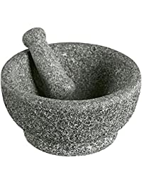 Favor 8-1/2 inch Polished Natural Stone Mortar and Pestle by Casa Maria wholesale