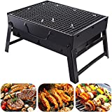 SPEVORIX Barbecue Grill Portable Foldable Lightweight Charcoal Grill Perfect BBQ Grill for Indoor Outdoor Campers Travel Park Beach Wild Barbecue Lovers