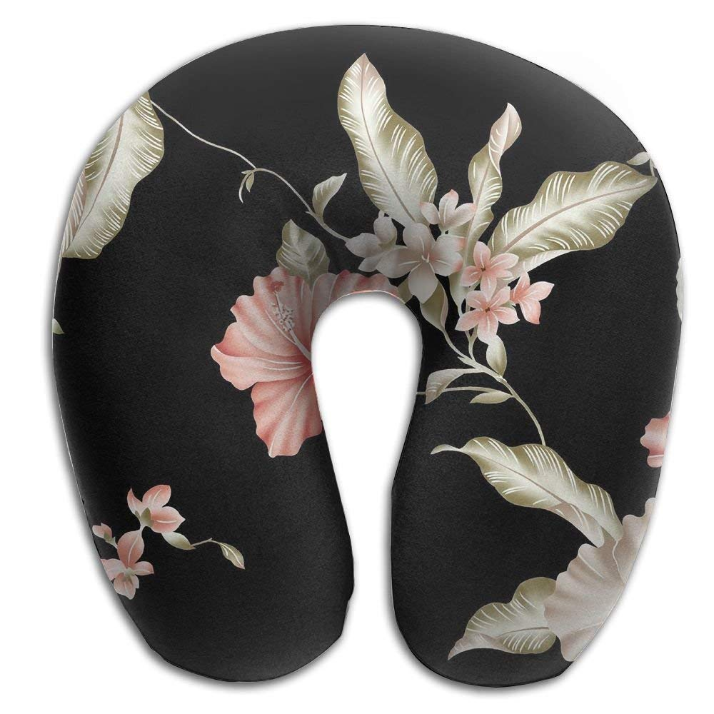 dan ding Neck Pillow Flowers Drawing Travel U-Shaped Pillow Soft Memory Neck Support for Train Airplane Sleeping