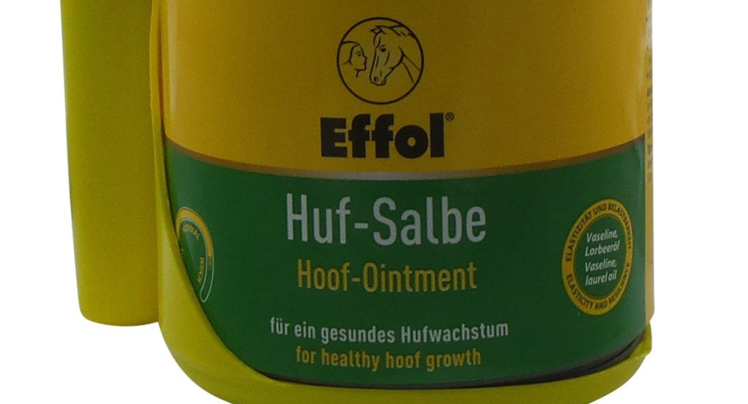 Set Effol HUF - Ungüento en amarillo + Effol Pincel - Fix - pomada para cascos con VASELINA y Aceite De Laurel 500ml Un ganzjähriges Producto para el ...