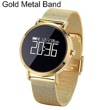 P12cheng Reloj Inteligente de Salud y Fitness, Monitor de Actividad física, CV08 Pulsera Inteligente con Bluetooth, Monitor de presión Arterial, ...