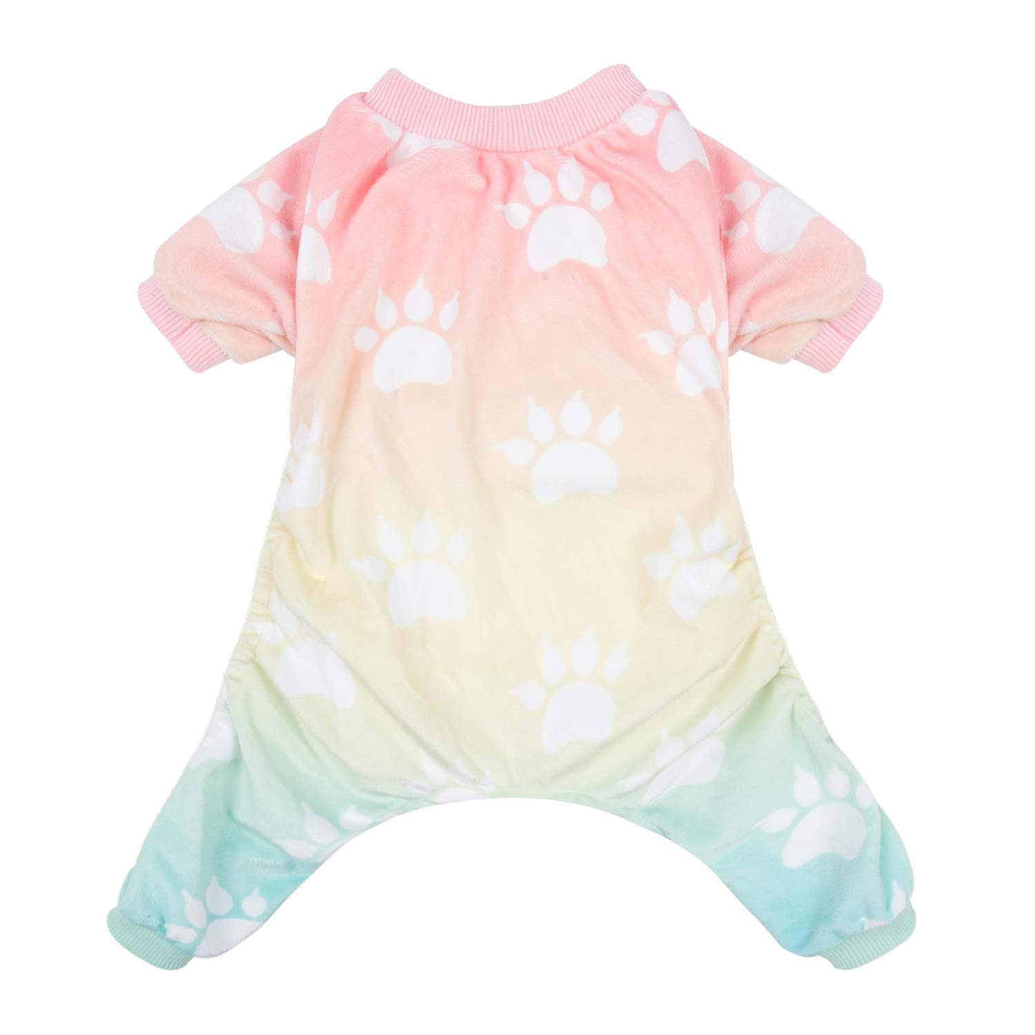 CuteBone Soft Dog Pajamas Gradient Footprint Doggy Shirts for Medium Puppies P09M by CuteBone
