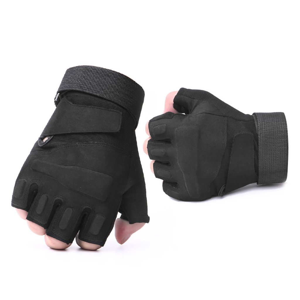 Tactical Outdoor Half Finger Anti Skid Wearproof Sports Gym Men Gloves Military