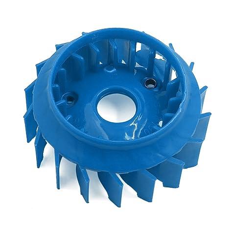 sourcingmap Azul Plástico de 18 Paletas Impulsor del Ventilador del Motor del Compresor Aire Parte Pieza