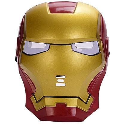 morningsilkwig Marvel Avengers máscara Iron Man máscara Brillante Traje luz Ojo máscara Super héroe Ironman Partido Cosplay máscara para Fiestas de ...