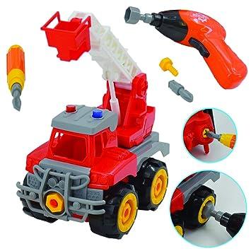 deAO Camion de Construcción para Montar y Desmontar Vehículo Puzle Incluye Camión Destornillador y Taladro Electrico (Camión Grúa): Amazon.es: Juguetes y ...