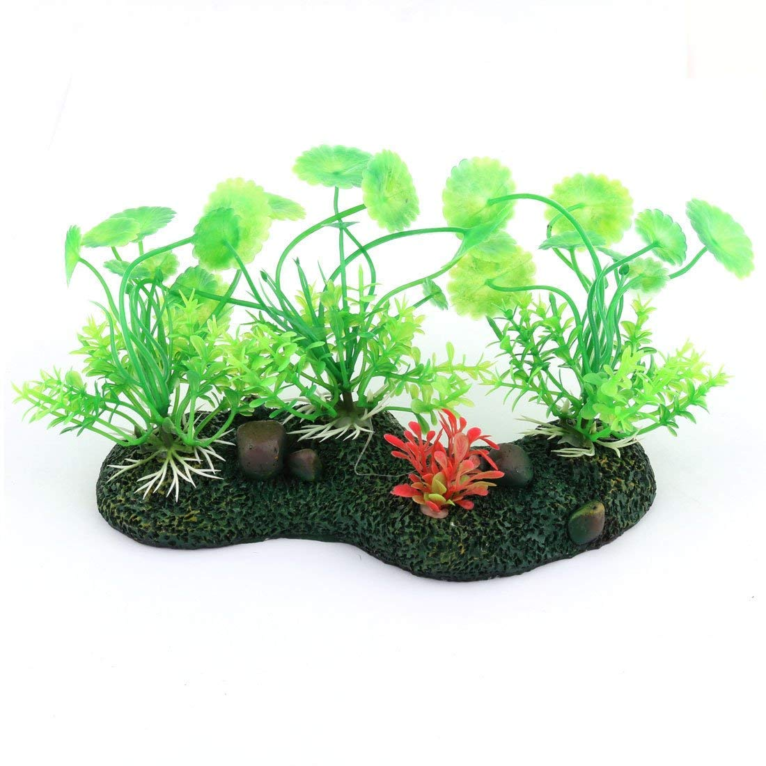 Fish Bowl Tank Landscape Artificial Plant Aquatic Grass 3 Inches Width 10PCS