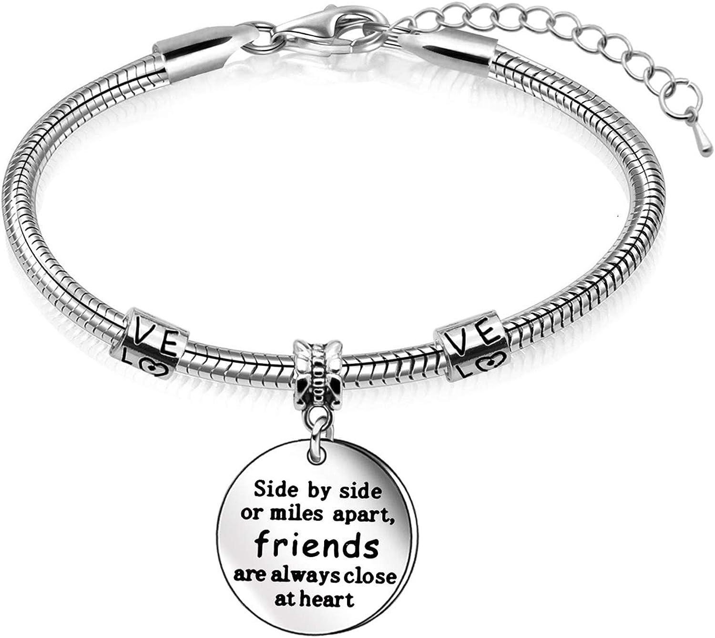 Juego de collar, pulsera y llavero para regalo para amigos, joyería creativa para regalos de graduación o cumpleaños