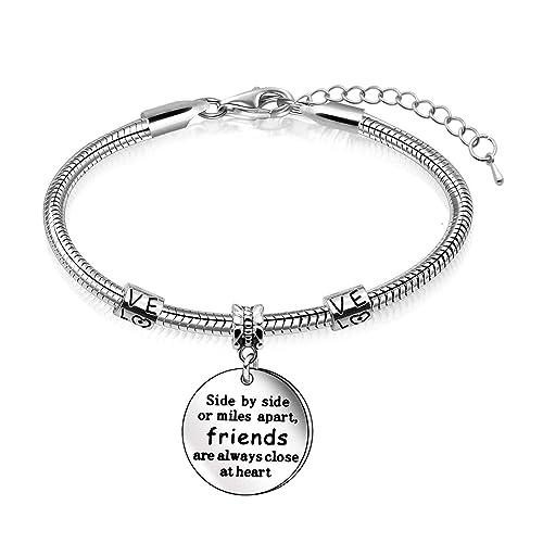 Juego de collar, pulsera y llavero para regalo para amigos ...