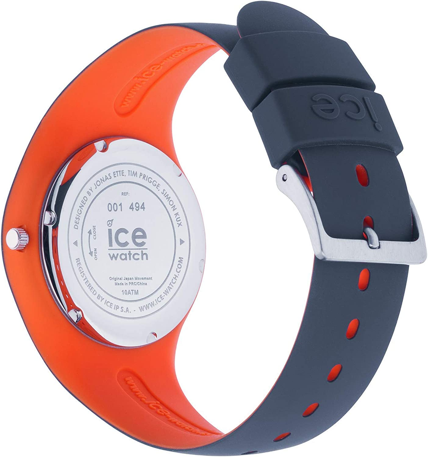 Ice Watch ICE duo Ombre orange Montre bleue pour homme avec bracelet en silicone 001494 (Medium)