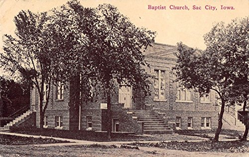 Baptist Church, Sac City, Iowa Antique Postcard T2189