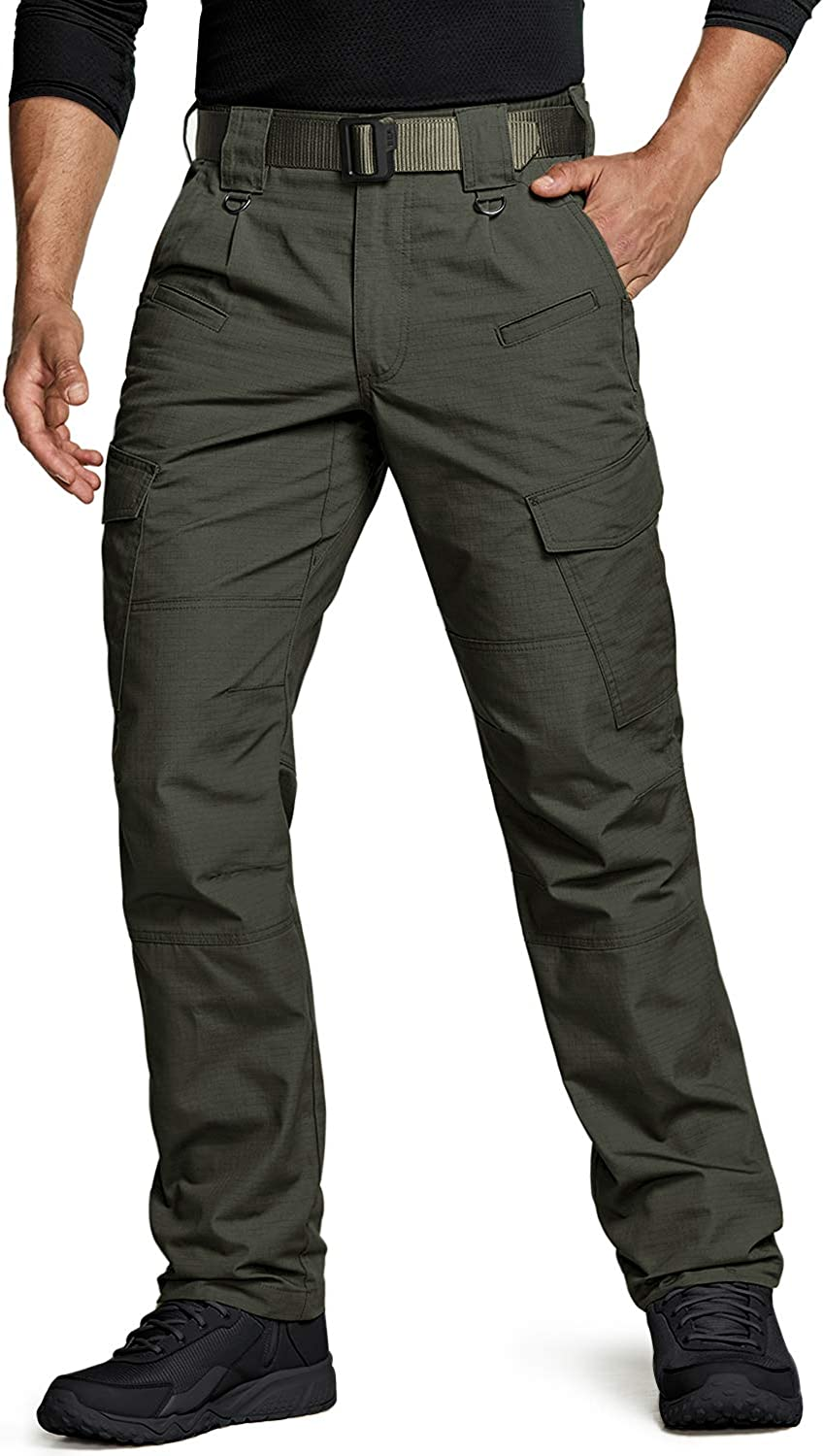Lightweight EDC Hiking Work Trouser CQR Mens Tactical Trousers Water Repellent Ripstop Cargo Pants Outdoor Apparel