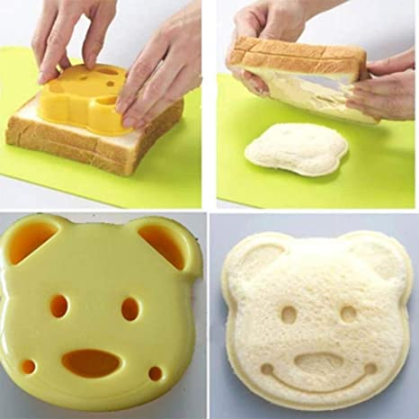 2X DIY HuntGold oso de peluche de galletas cortador de galletas para hacer bolsas para sándwiches
