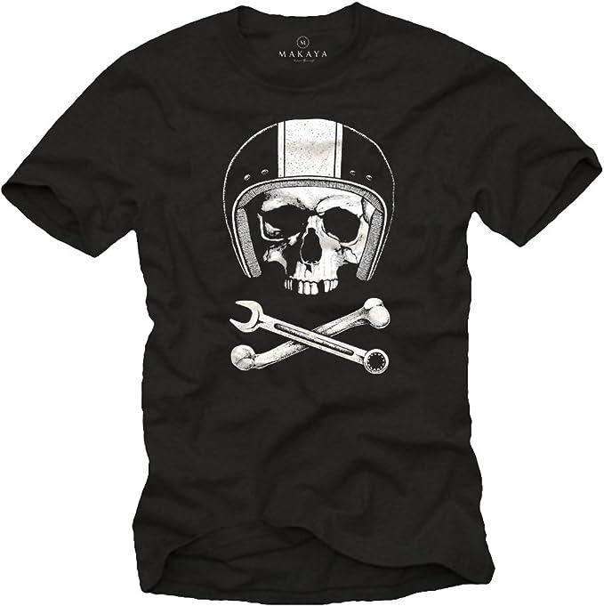 camiseta Calavera con Casco