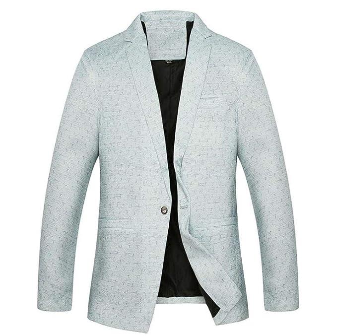 JBHURF Slim Fit Casual Sport Coat de un botón Parche Blazers ...