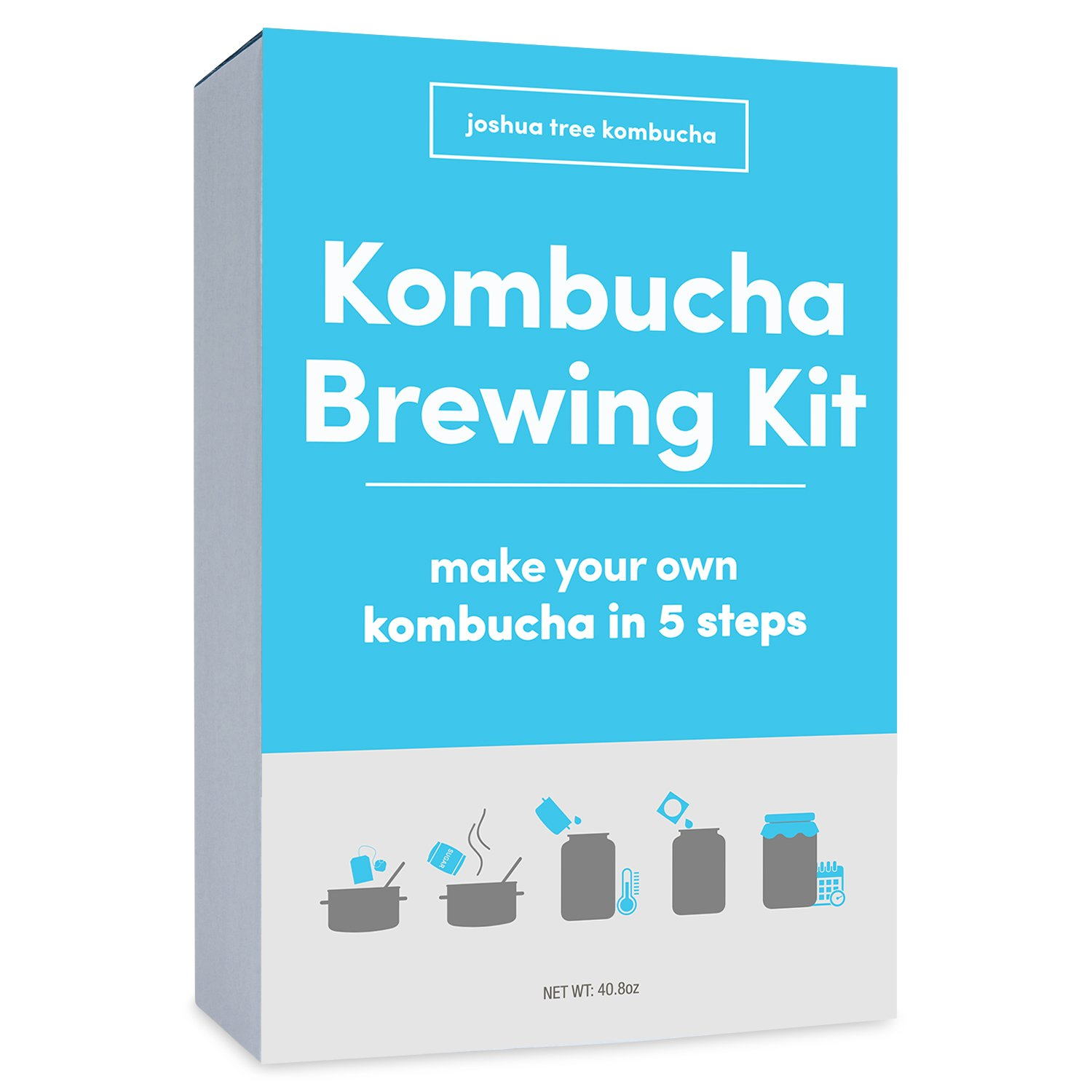- Kombucha Scoby with Starter Tea & 1 Gallon Glass Kombucha Jar - Kombucha Starter Kit with Kombucha Cover