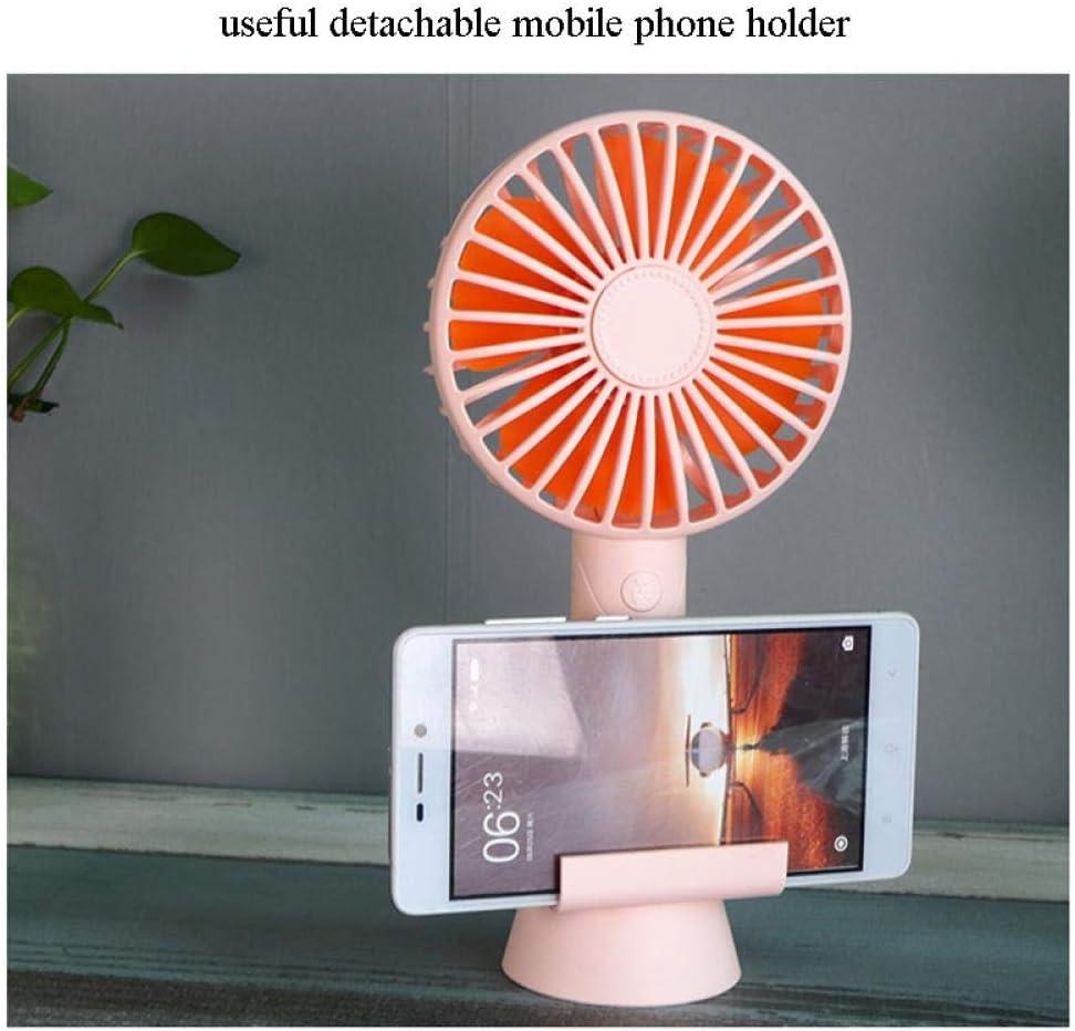 Ventilatore portatile, Mini Usb Ventilatore di raffreddamento personale ricaricabile con supporto per telefono cellulare Pink