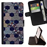 Planetar Colorful Pattern Flip Wallet Leather Holster Protective Skin Case Cover For SAMSUNG Galaxy S5 V / i9600 / SM-G900 ( Honeycomb Rainy City Street )