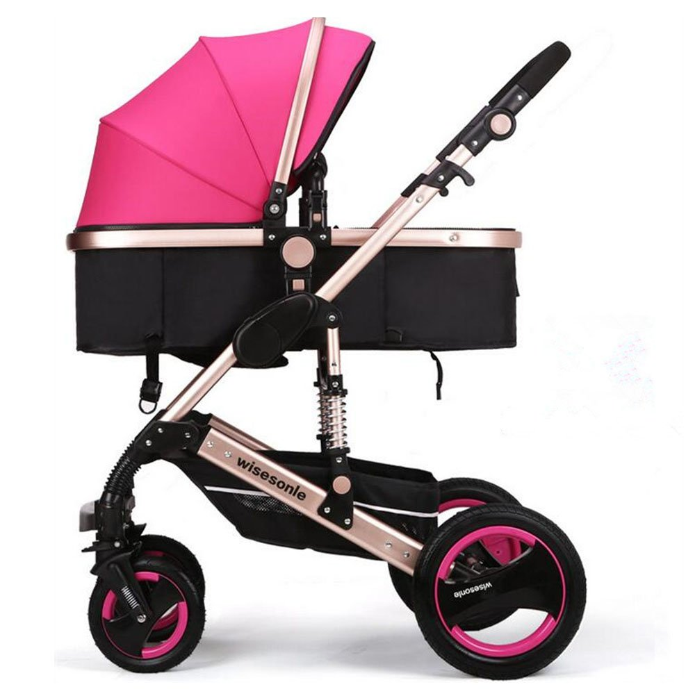 YBL High landscape baby stroller Baby carriage Can sit and lie down Two-way implementation Folding suspension Suitable for 0-3 year old baby Four seasons available The choice of city by YBL (Image #1)