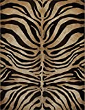 Modern Zebra Stripes Area Rug 8x11 Animal Skin Print Carpet-Actual 7'10''x10'6''