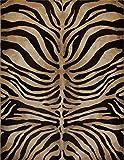 Home Dynamix Modern Zebra Stripes Area Rug 3x5 Animal Skin Print Carpet- Actual 3' 3'' x4' 7''
