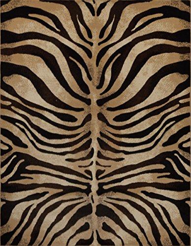 Home Dynamix Modern Zebra Stripes Area Rug 3x5 Animal Skin Print Carpet- Actual 3' 3'' x4' 7'' by Area Rugs