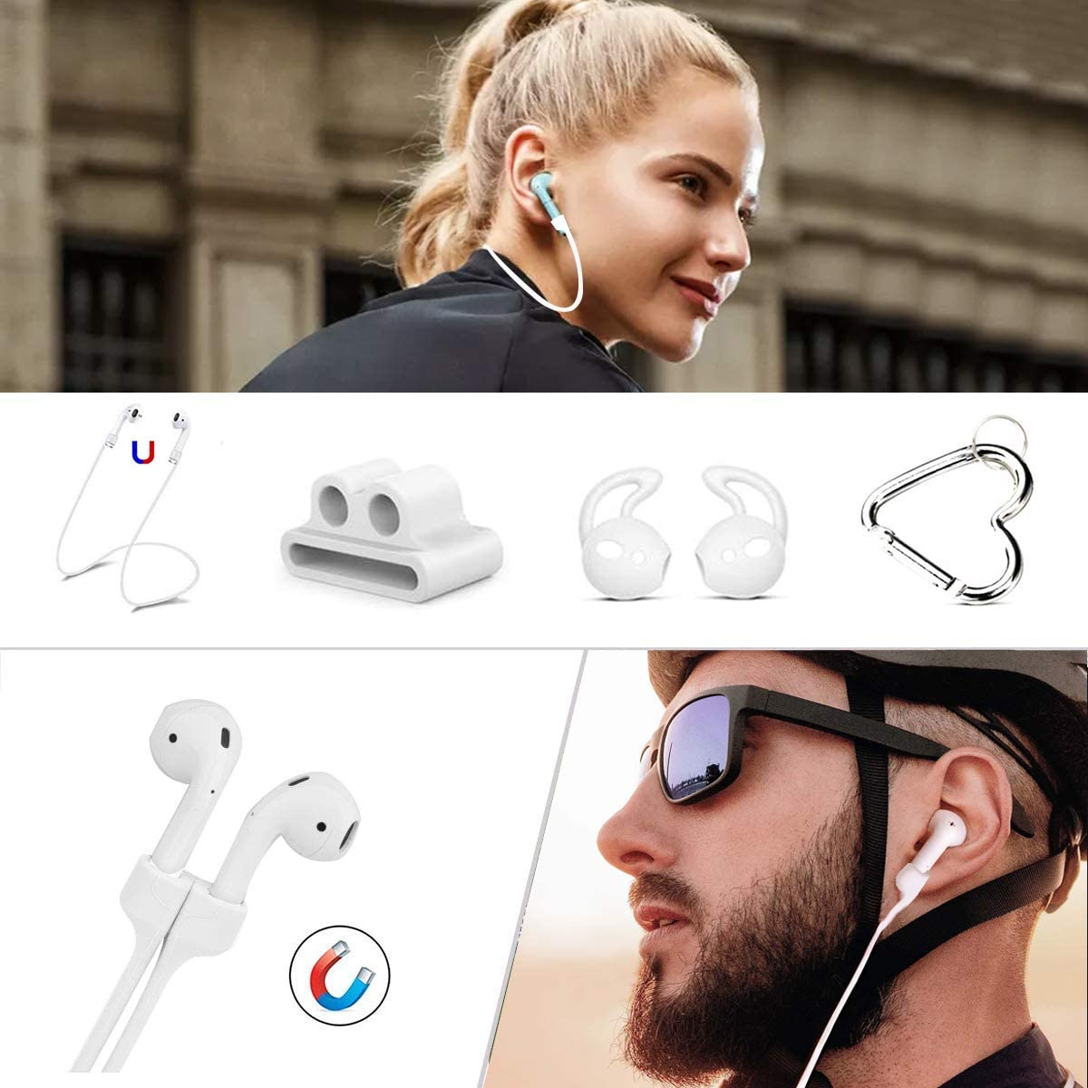 5 in 1 Cute Airpod Case Hard Protective Cover with Keychain//Strap//Earhooks//Watchband Holder Compatible Apple AirPods Wireless Charging Case 2/&1 for Girls Women,Flower Green Maxjoy AirPods Case Cover