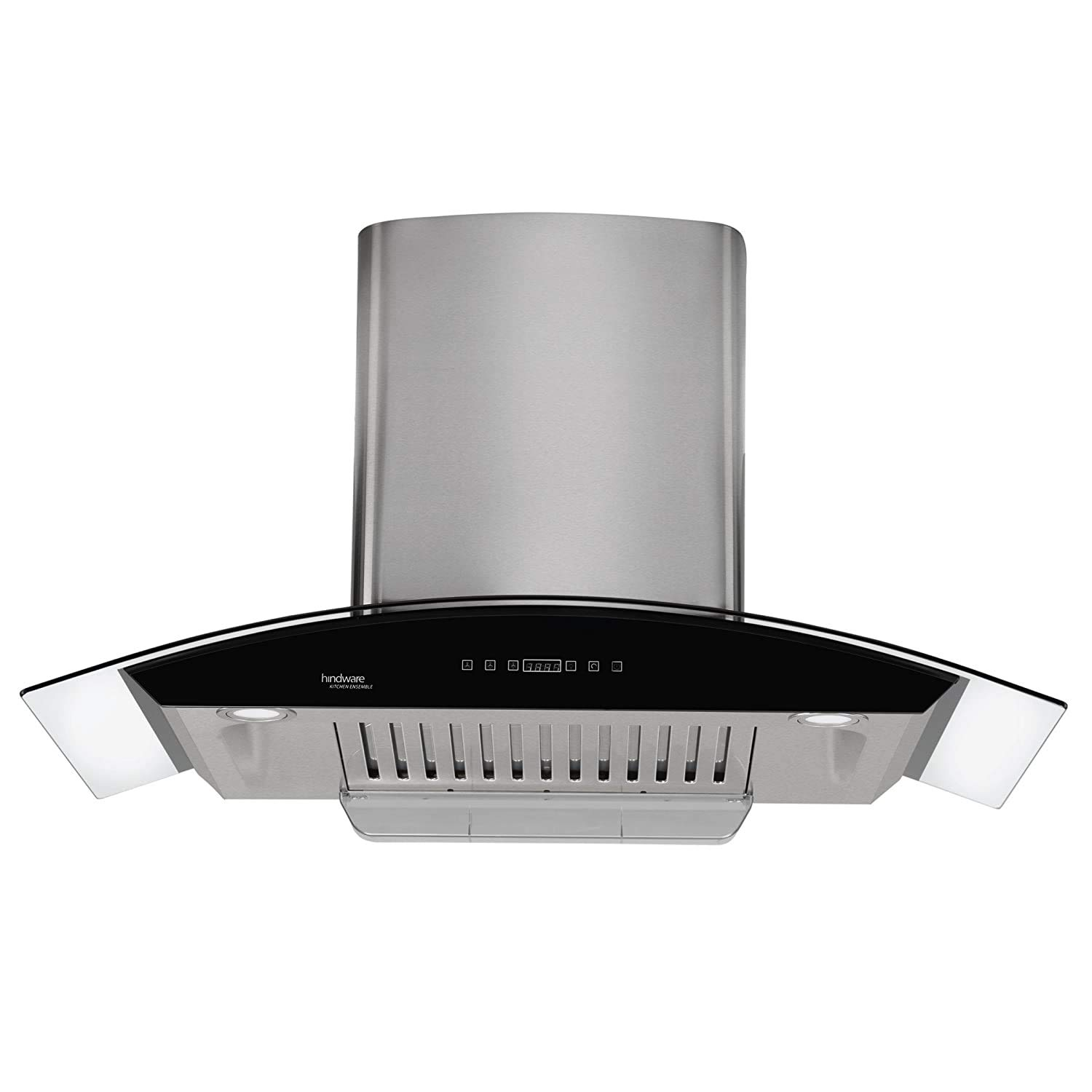 Hindware 90cm 1200 m3/hr Auto Clean Chimney (Nevio 90, 1 Baffle Filter, Steel/Grey)