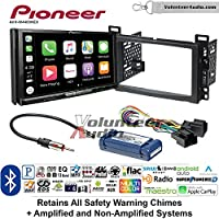 Volunteer Audio Pioneer AVH-W4400NEX Double Din Radio Install Kit with Wireless Apple CarPlay, Android Auto, Bluetooth Fits 2006-2011 Chevrolet HHR, 2008-2011 Malibu