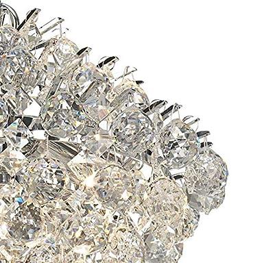 Bestier Lampadario moderno a sospensione Lampadario a goccia di cristallo Lampada da soffitto Apparecchio per sala da pranzo Bagno Camera da letto Soggiorno 4 Lampadine G9 Richiesto D28cm x H30cm