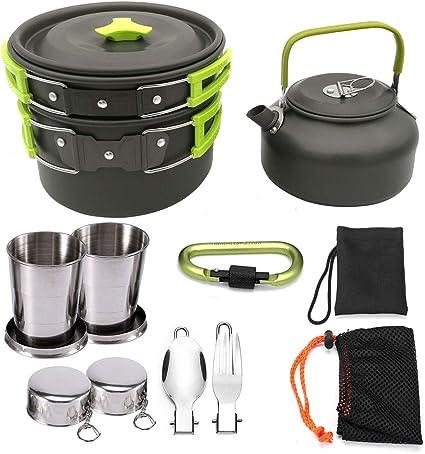GJG Utensilios De Cocina para Acampar Kit De Utensilios De ...