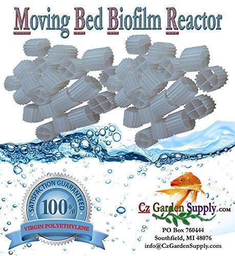 K1 Filter Media PREMIUM GRADE Moving Bed Biofilm Reactor (MBBR) for Aquaponics • Aquaculture • Hydroponics • Ponds • Aquariums by Cz Garden Supply (1 - Filter Bed Fluidized Aquarium