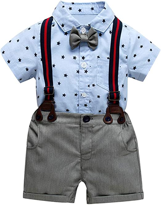 US Cute Newborn Baby Girl Kid Polka-dot Tops Short Leather Pants Outfits Clothes
