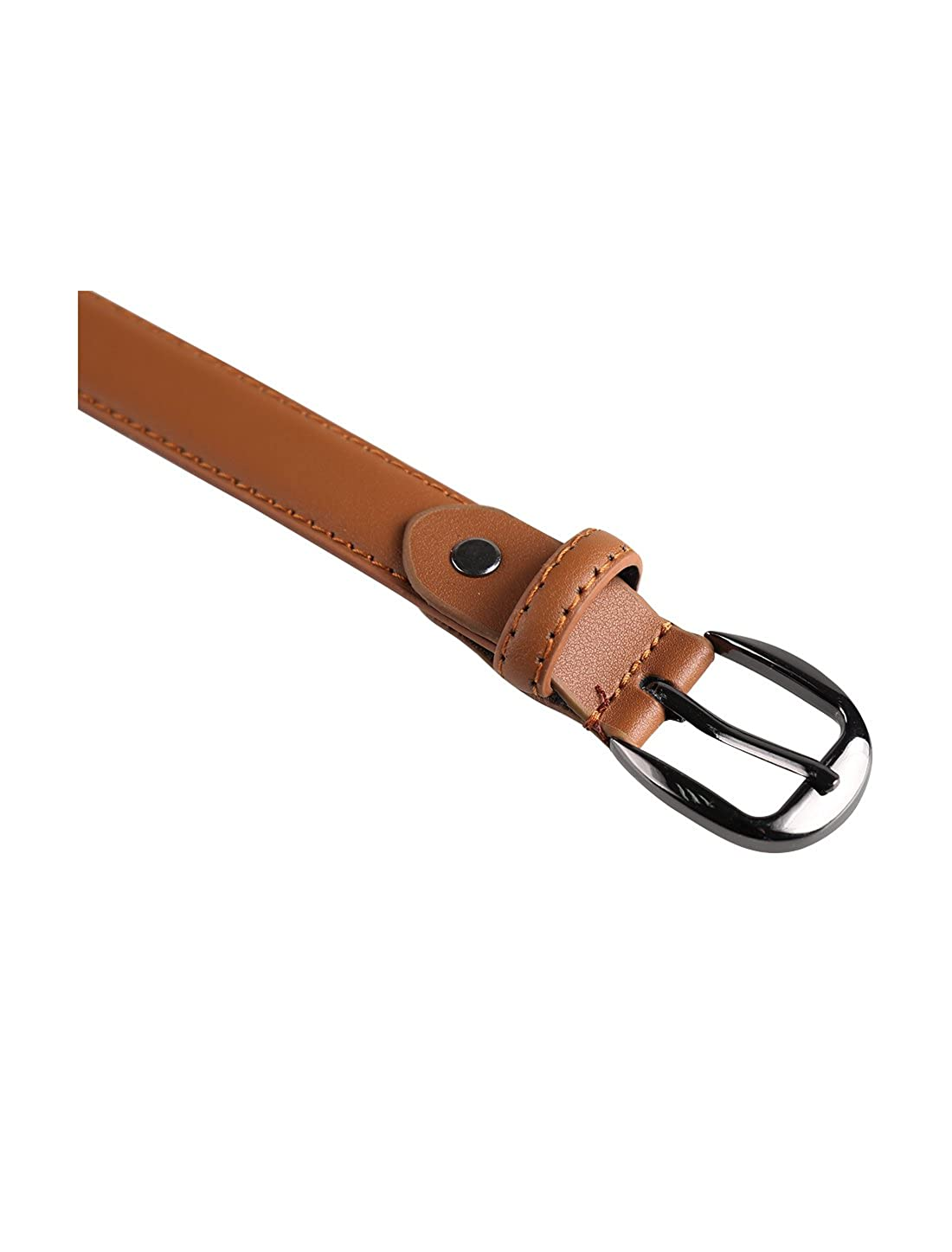 uxcell Women Leather Belt for Jeans Pants with Classic Alloy Buckle Width 1