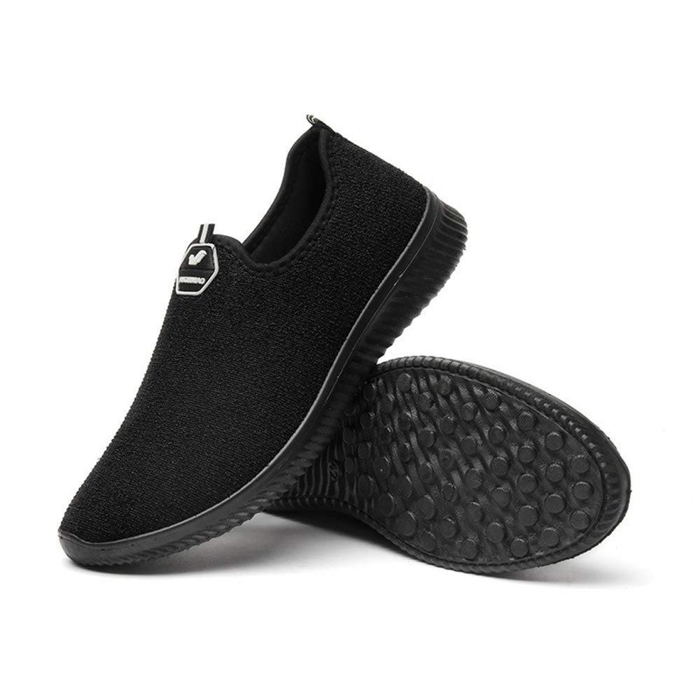 Ywqwdae Herren Slip auf Outdoor-Schuhe weiche Sohle Rutschfeste Breathable Casual Wanderschuhe (Farbe   Schwarz, Größe   EU 43)