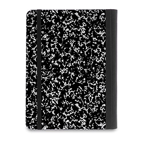 Verso Kindle Case - Scholar Classic Black Composition Book Folio Style Protective Case for Amazon Kindle (fits Kindle Paperwhite, Kindle, and Kindle Touch), Black