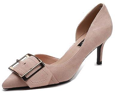 04366bc2838d Aisun Femme Mode D'Orsay Cranté Talon Aiguille Mi-Talon Escarpins:  Amazon.fr: Chaussures et Sacs