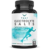 Electrolyte Salts Rehydration & Recovery Energy Supplement - Low Carb Ketogenic Diet, Keto Flu Support, Rapid Oral Hydration Electrolytes Replacement Pills. Sodium, Potassium, Magnesium, 120 Capsules