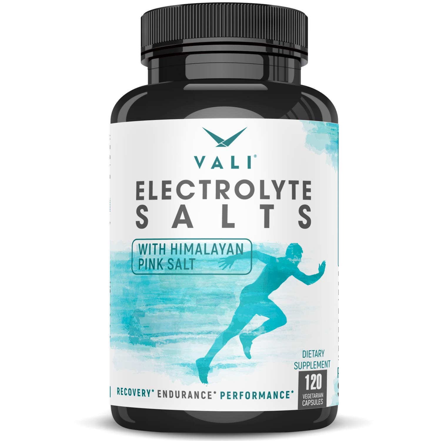 Electrolyte Salts Rapid Oral Rehydration Replacement Pills, Hydration Minerals for Active Fluid Recovery Health - Sodium, Potassium, Magnesium, Calcium, Vitamin D3, Himalayan Pink Salt, 120 Capsules by VALI