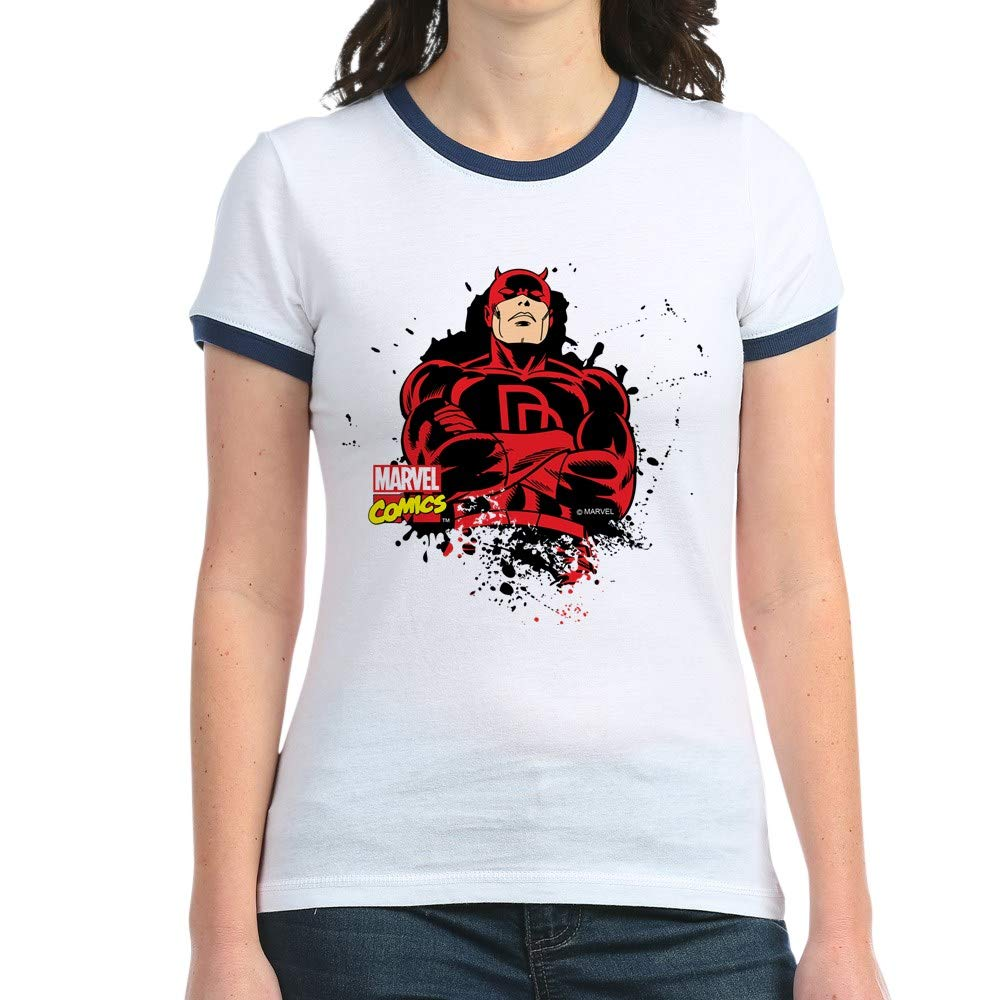 6bc9f5b6200 Amazon.com  CafePress Daredevil Paint Splatter Jr. Ringer Ringer T-Shirt   Clothing