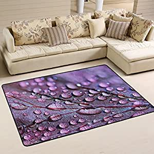 Alfombra Lupinz de área ultra violeta para entrada de alfombras, alfombrillas para el suelo, alfombrillas para zapatos, decoración del hogar, color del año 2018 18 18 – 3838 antideslizante, lavable, resistente al desgaste, 5 x 8 cm
