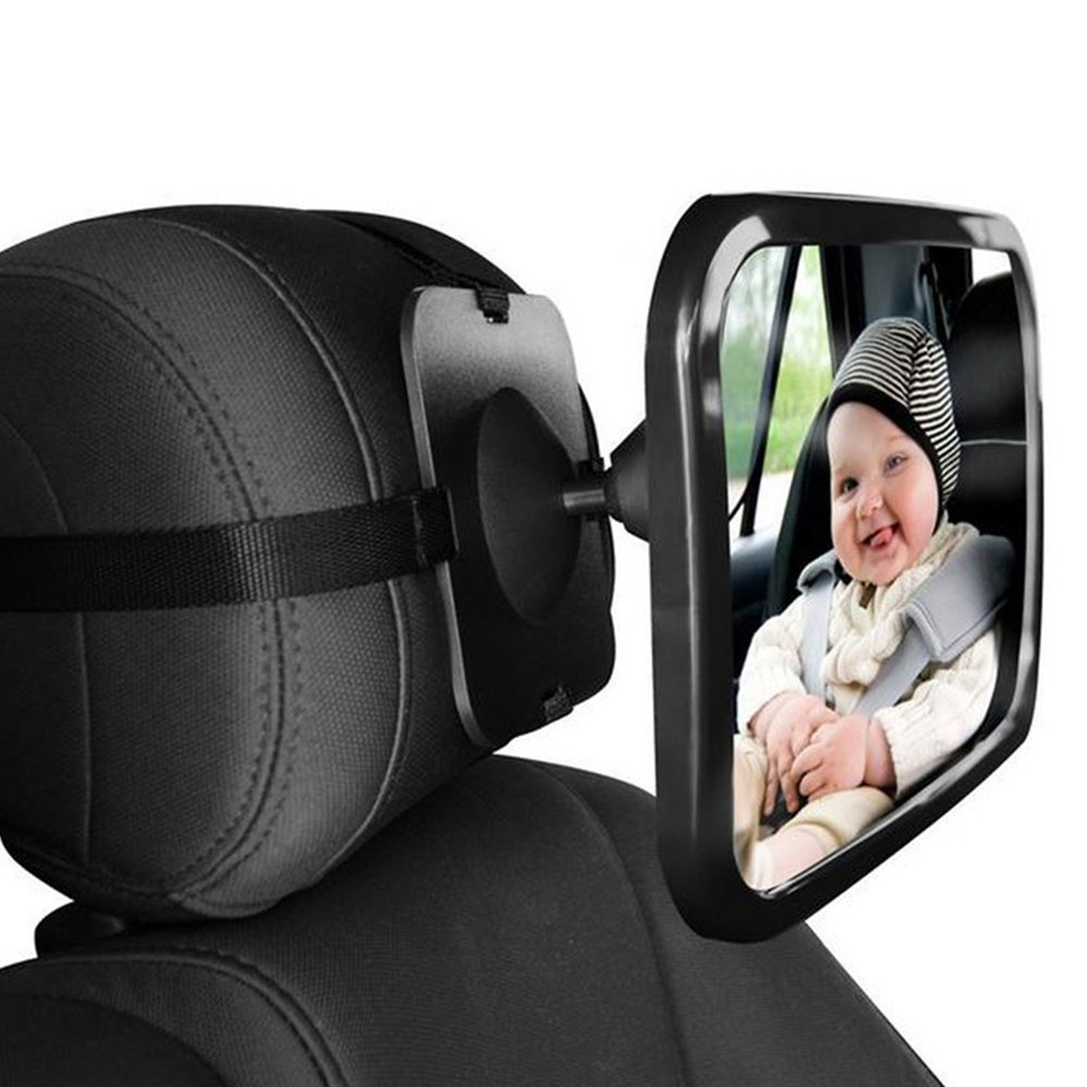 Black JJOnlineStore Reflective Baby Car Mirror Large Baby Rear View Mirror 30x23cm
