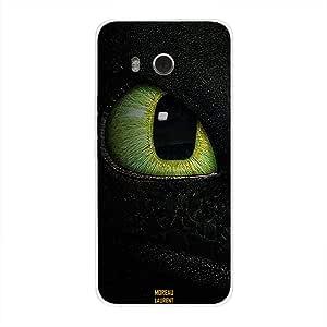 HTC U11 Case Cover Green Cat Eye, Moreau Laurent Premium Phone Covers & Cases Design