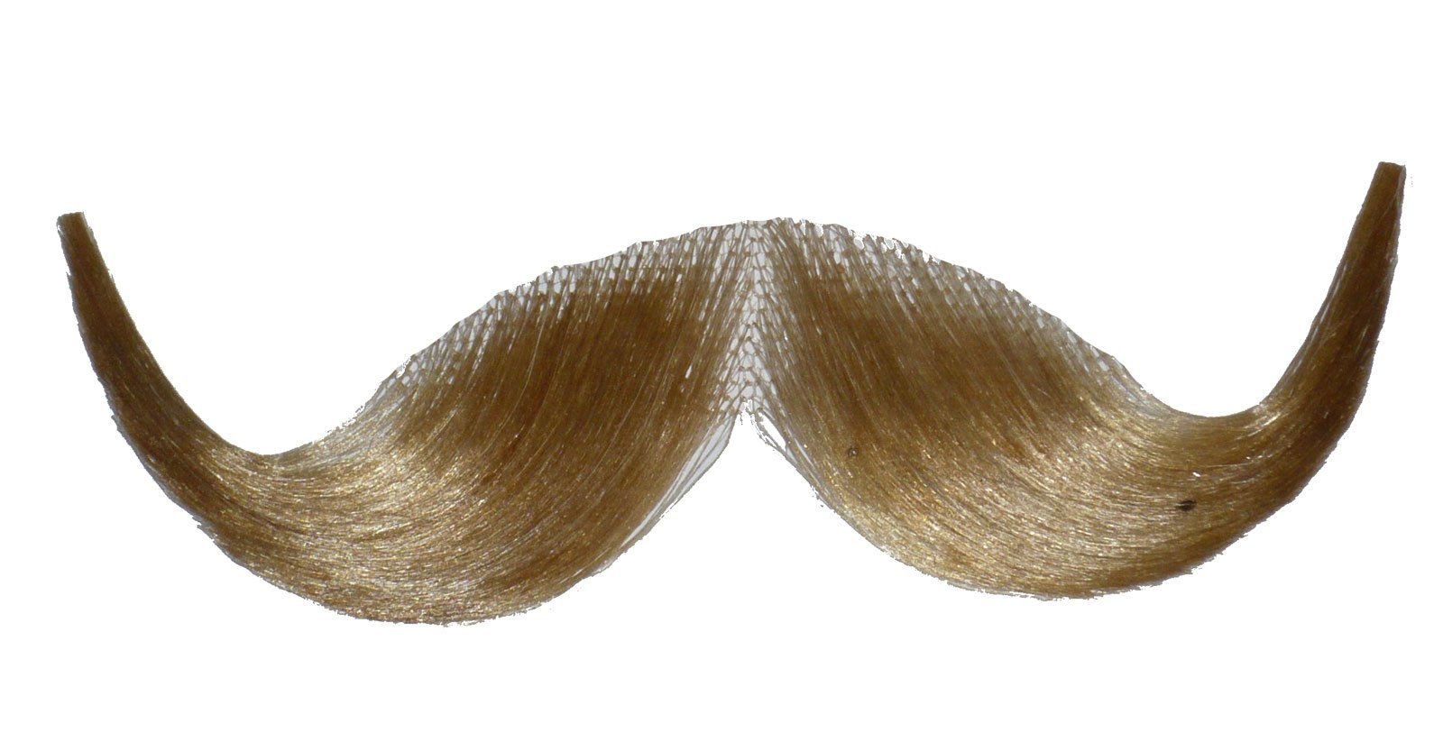2013 (Blonde) Human Hair Mustache Handlebar Mustache Includes 6 Free Adhesive Strips