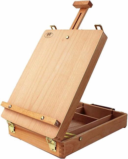 Base de madera port/átil plegable francesa Tabule la base de Dibujo Petr/óleo Pinturas Boceto caja del tr/ípode pintura de caballete de Suministros del artista Arte Color : Wood Color Easel