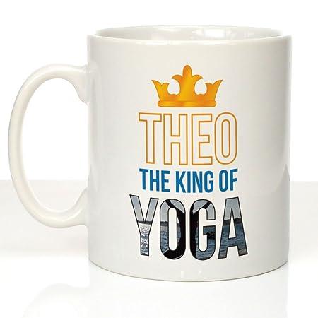 El Rey personaliseitonline taza de Yoga, Yoga regalos para ...
