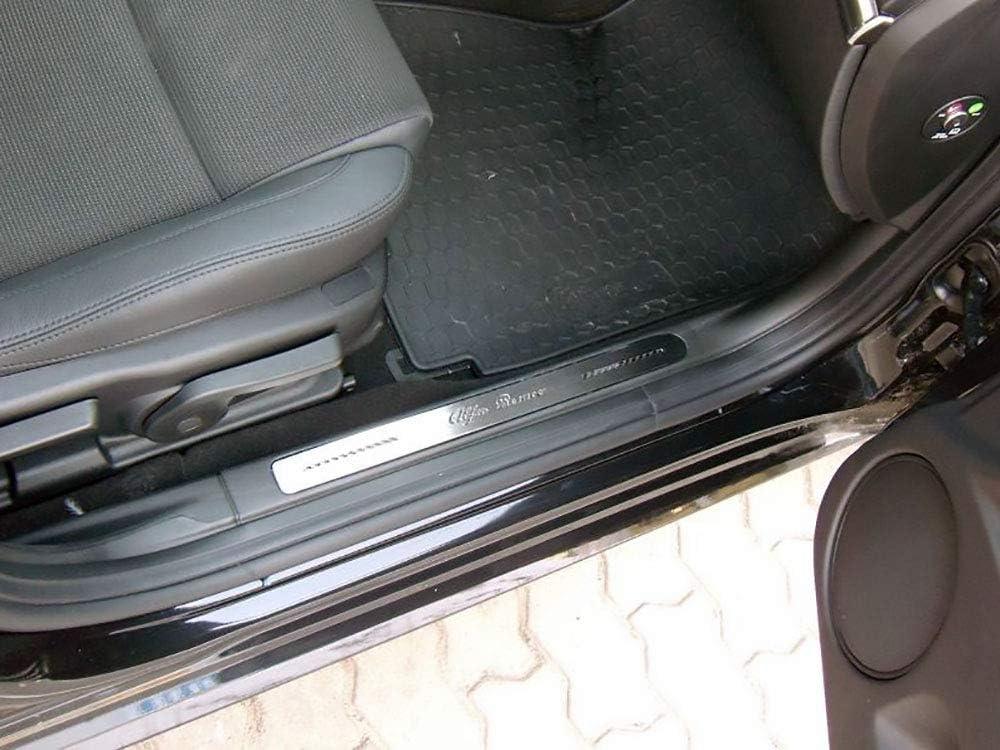 Einstiegsleisten Stahlabdeckung f/ür Alfa/_Romeo 159-2 St/ück Zubeh/ör Edelstahl Leisten Zierleisten mit Carbonschicht Ladekantenschutz Komplett