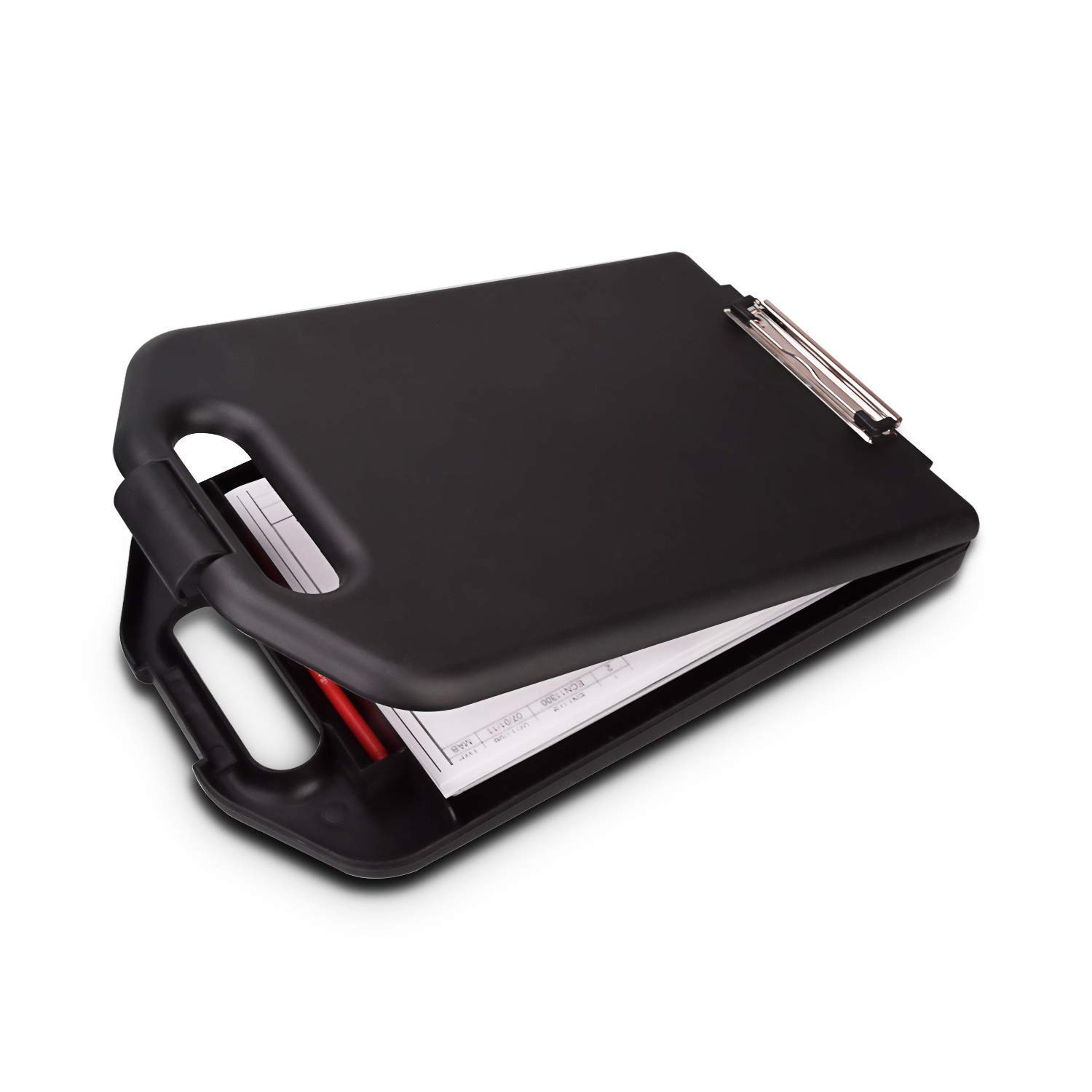 ZCZN Plastic Portable Clipboard Case, Suitable for School,Utility,Industrial Office, Medical Personnel, Black with…