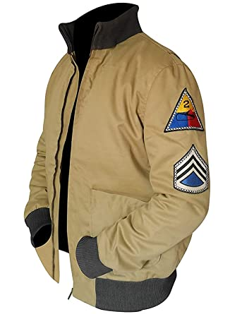 983880aa4 Ultimo Fashions US Army Tanker WW2 Military Style Bomber Men's Khaki Cotton  Jacket