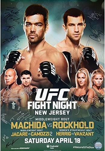 "UFC on FOX 15 Machida vs. Rockhold Autographed 27"" x 39"" 22-Signature Event Poster - Fanatics Authentic Certified..."